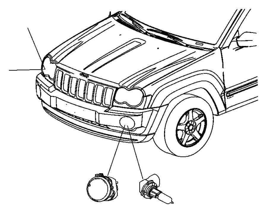 Jeep Grand Cherokee Headlight Wiring Harness. 2005-07