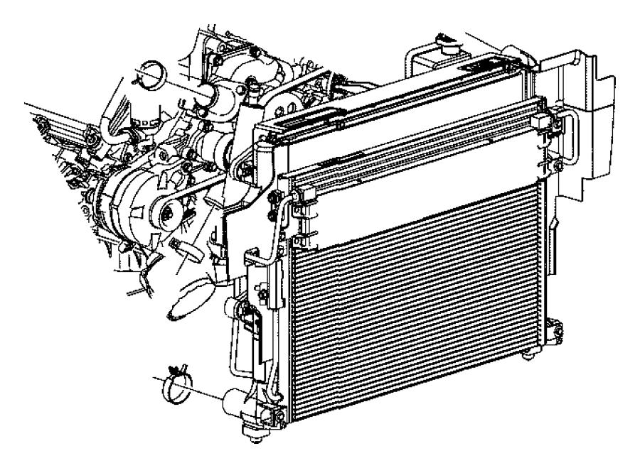 Jeep Grand Cherokee Radiator. ENGINE COOLING. Radiator