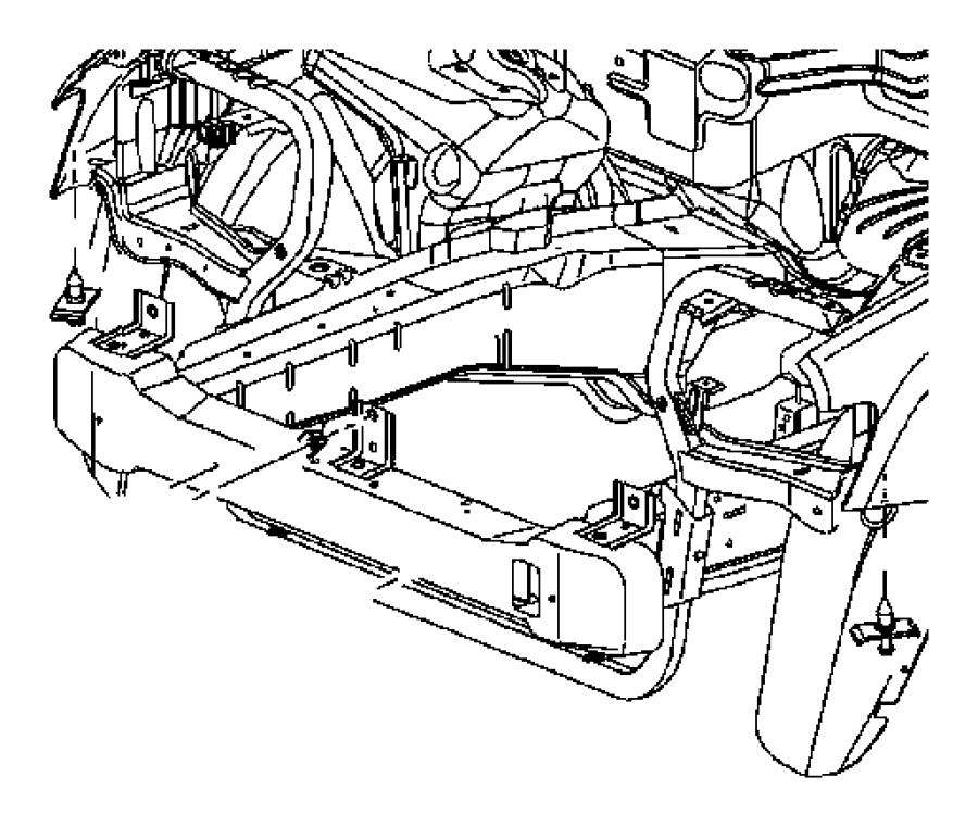 Dodge Durango Bumper Cover Retainer (Upper). 2007-09