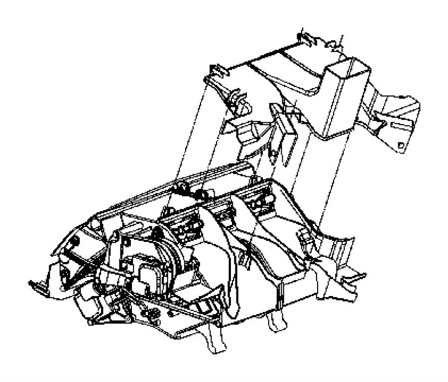 Dodge Grand Caravan Hvac air inlet door actuator