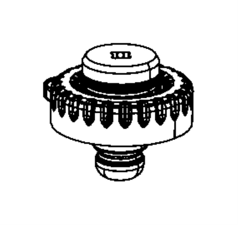 Chrysler 200 Coil Spring Insulator (Rear, Upper, Lower