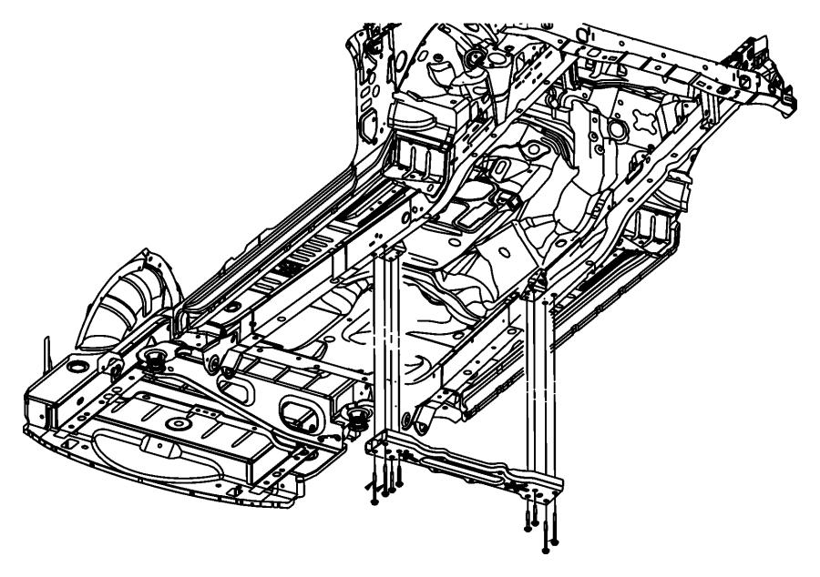 Dodge NITRO Transmission Crossmember Bolt. 3.7 LITER