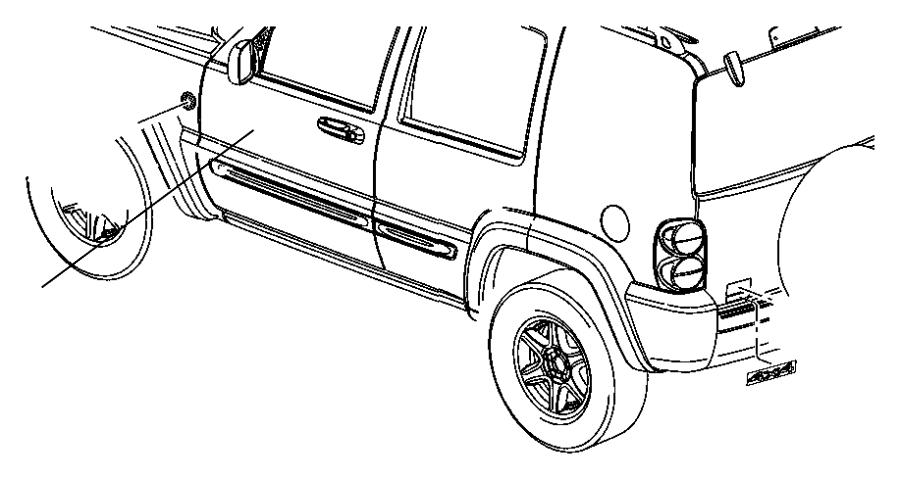 Jeep Grand Cherokee Emblem. 4x4. 2014-18, 4X4, chrome