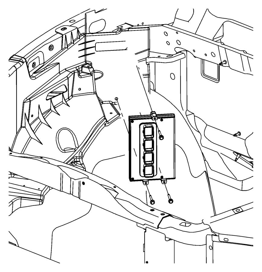 Dodge Dakota Engine Control Module. 4.7 liter, manual