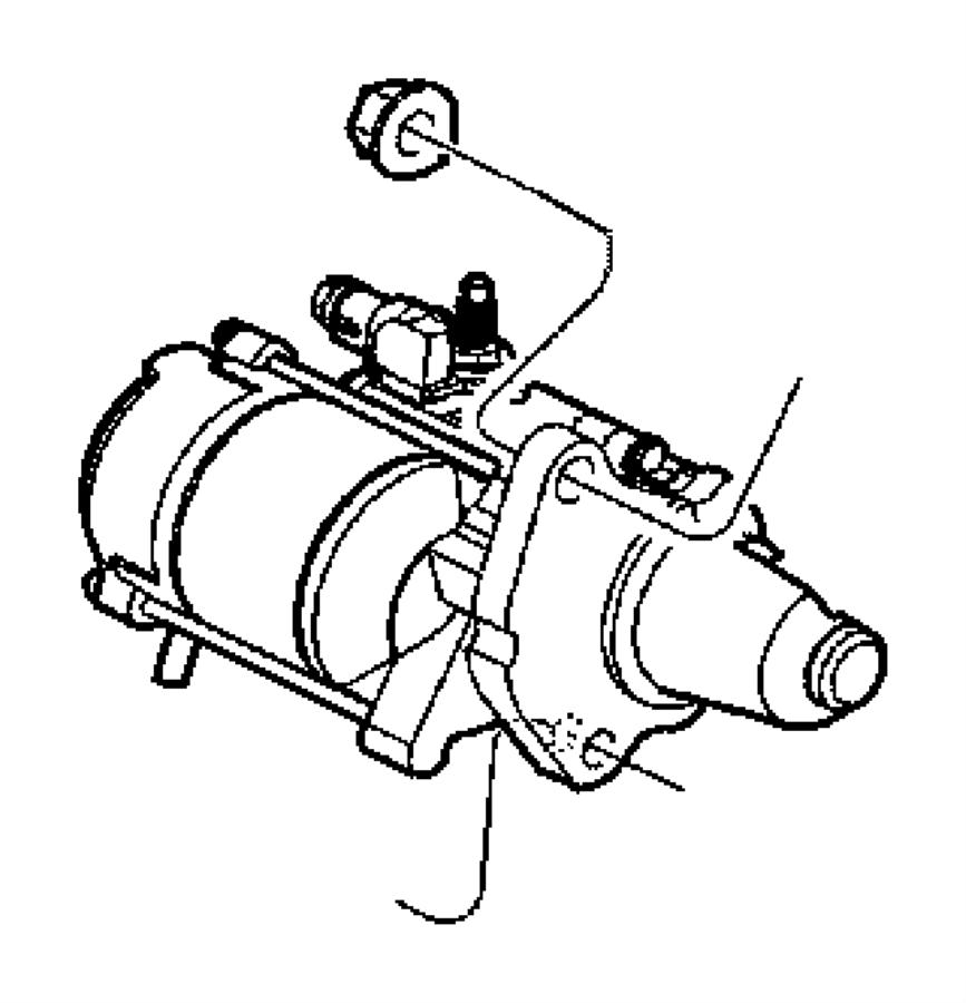 Dodge Dakota Starter Motor. Manual, Trans, LITER