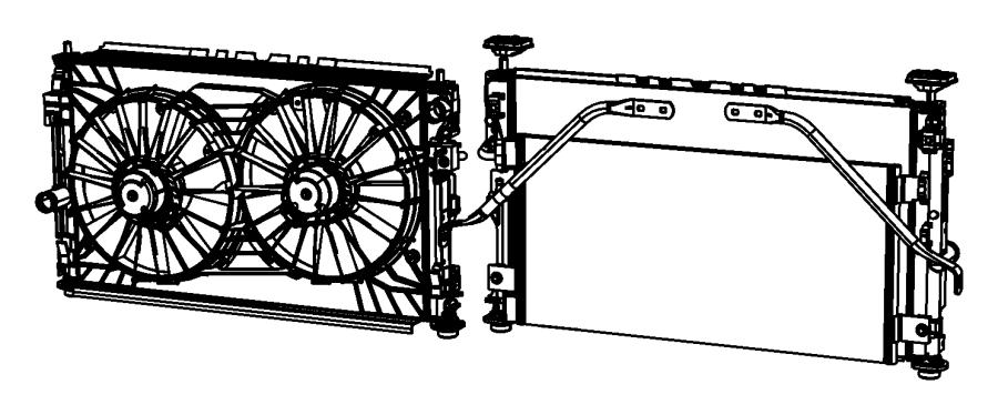 Dodge Caliber Engine Cooling Fan Shroud. LITER, RADIATOR