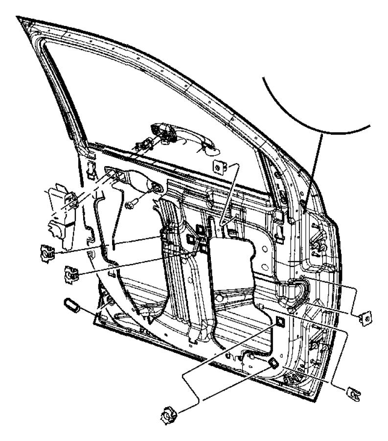 Ram 3500 Nut. Panel. Trim. Door. (Rear). 2007-11. CREW CAB