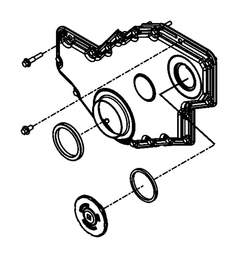 Dodge Ram 3500 Engine Timing Cover. 5.9 LITER DIESEL. 6.7