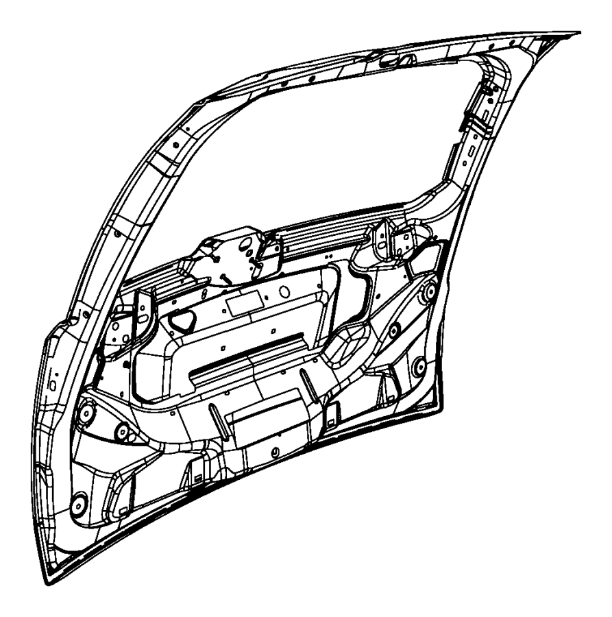 Chrysler Town & Country Liftgate. Engine lid. Liftgate