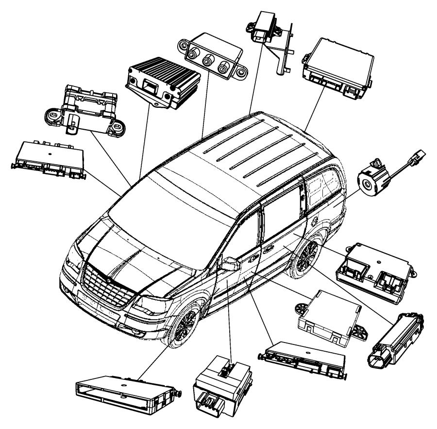 Chrysler Town & Country Control module. SLIDING DOOR. All