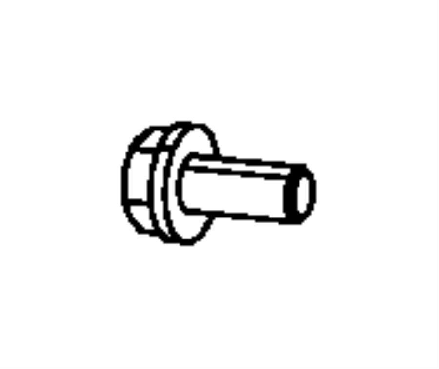 Jeep Wrangler Fuel Filler Neck Bolt. 3.7 & 4.0 LITER