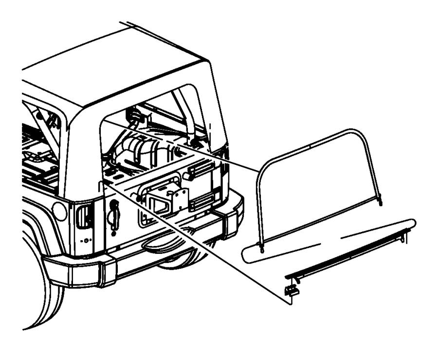 Jeep Wrangler Back Glass (Rear). 2 DOOR, sunscreen, khaki