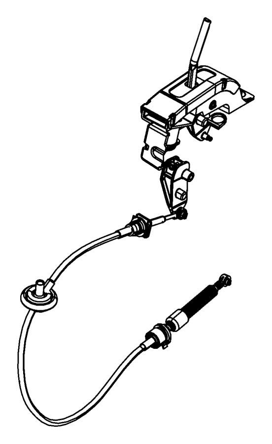 Jeep Wrangler JK Manual Transmission Shift Lever. Transfer