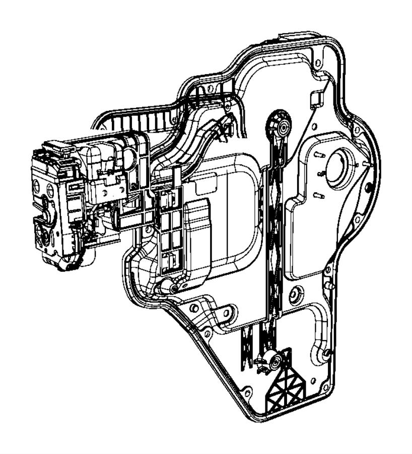 Jeep Wrangler Door Latch Cable. FULL DOOR, lock to latch