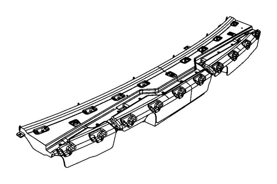 Chrysler Aspen Bumper Cover Support Rail. 2007-09. Rear