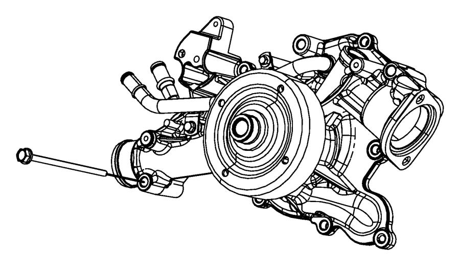 Dodge Ram 2500 Water. PUMP. Engine. 5.7 LITER. Incl.Pulley
