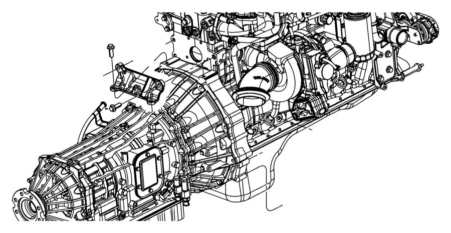 Jeep Wrangler Engine Mount Bolt. LITER, DIESEL, Upper