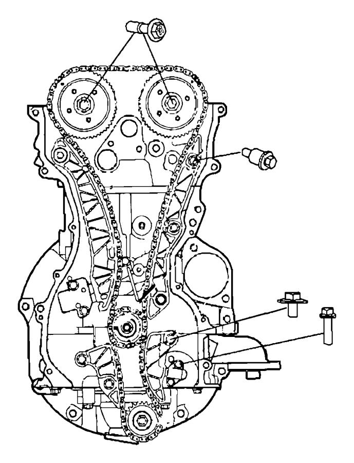 Dodge Caliber Engine Balance Shaft Chain Tensioner. 2.4