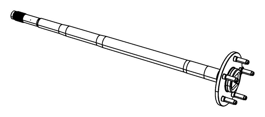 Dodge Dakota Drive Axle Shaft. REAR, Left, DIFFERENTIAL