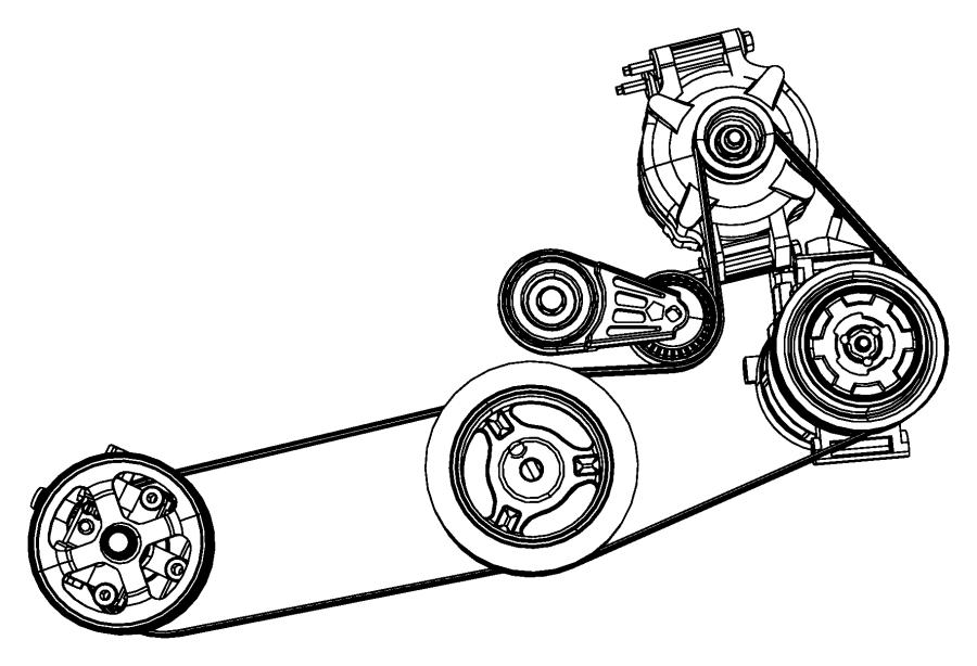 Chrysler Sebring Accessory Drive Belt Tensioner Assembly