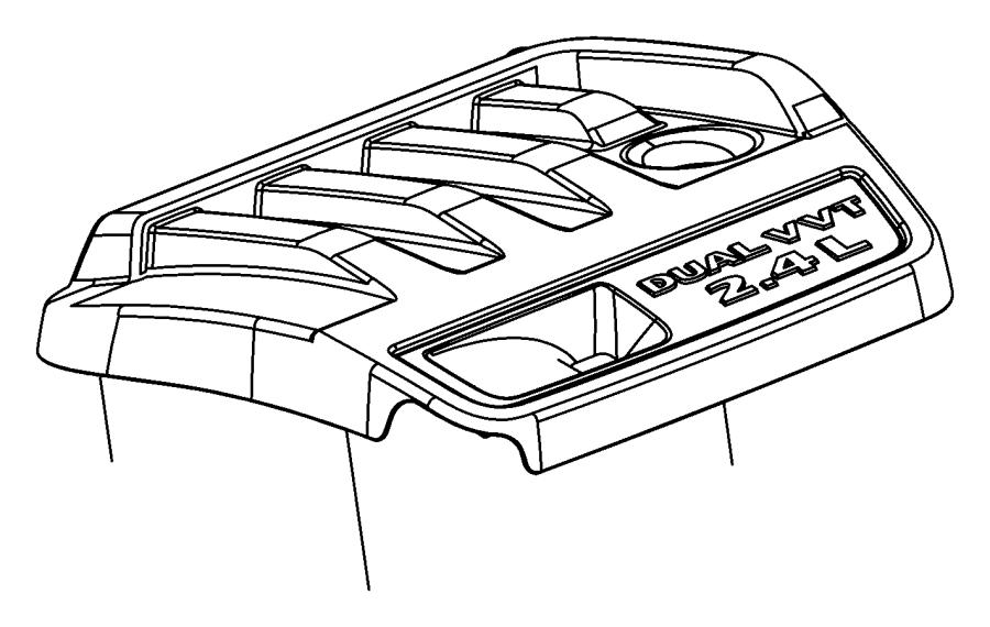 Jeep Patriot Engine Cover. 2.4 LITER. 2.4 LITER W/O TURBO
