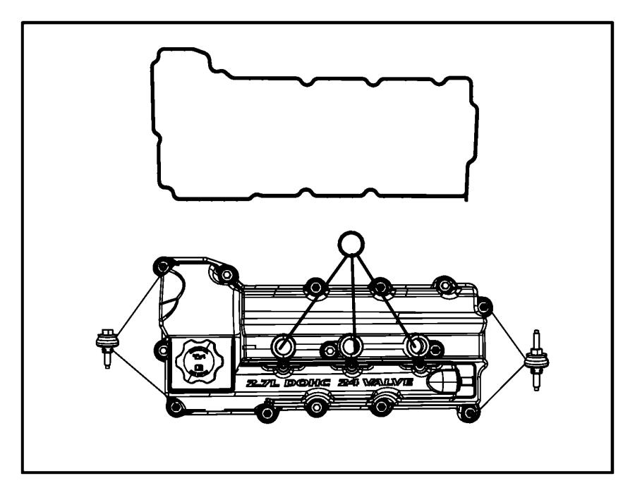 Dodge Charger Engine Valve Cover Gasket. Gasket. Cover