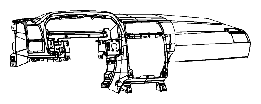Dodge Challenger Dashboard Panel. INSTRUMENT, Make