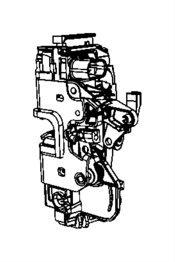 Dodge Grand Caravan Door Lock Actuator Motor (Front