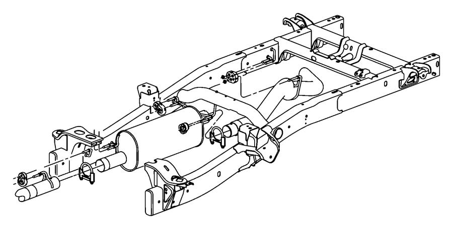 Dodge Ram 3500 Pipe. Exhaust. Tail. 5.9 LITER Diesel. 5.9