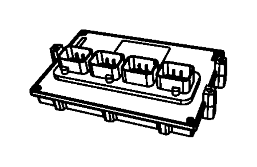 Jeep Wrangler Module. Pcm. Powertrain control. 3.8 liter