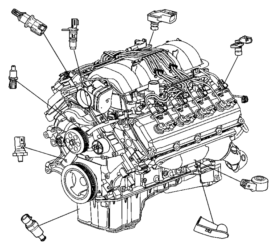 Dodge Ram 1500 Crankshaft Position. Sensor. Repair, Cause