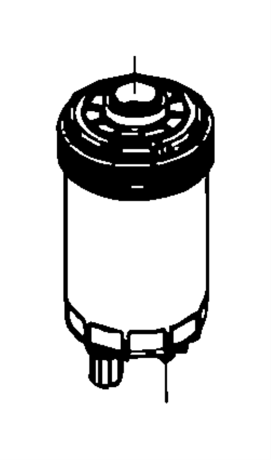 Dodge Ram 3500 Fuel Water Separator Filter. Ram 2500, 3500
