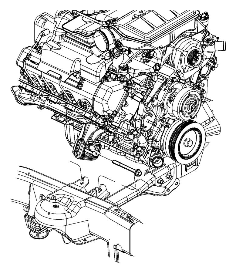 Dodge Ram 1500 Engine Mount. LITER, Right, BEARINGS