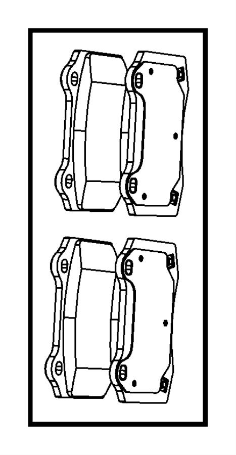 Jeep Grand Cherokee Disc Brake Pad Set. Pads, REAR