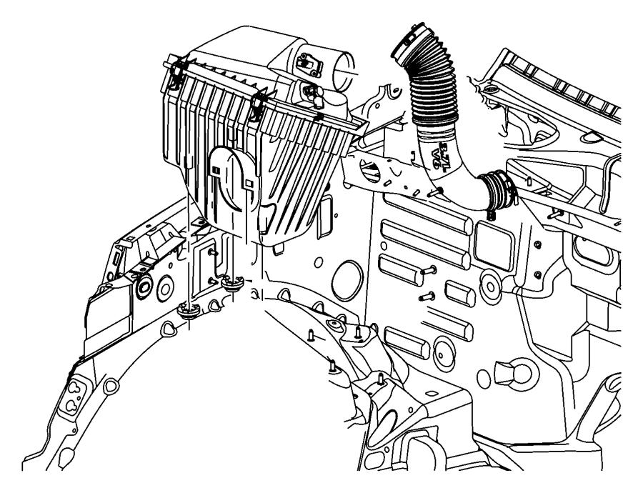 Jeep Liberty Engine Air Intake Hose. 3.7 LITER