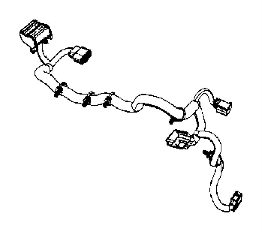 Jeep Wrangler Headlight Wiring Harness. HALOGEN. Front