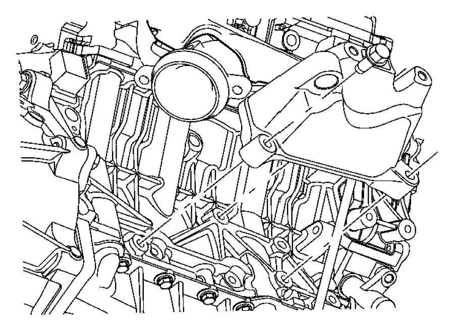 Dodge Magnum Engine Mount Bracket. 3.5 LITER. 3.5 LITER, W