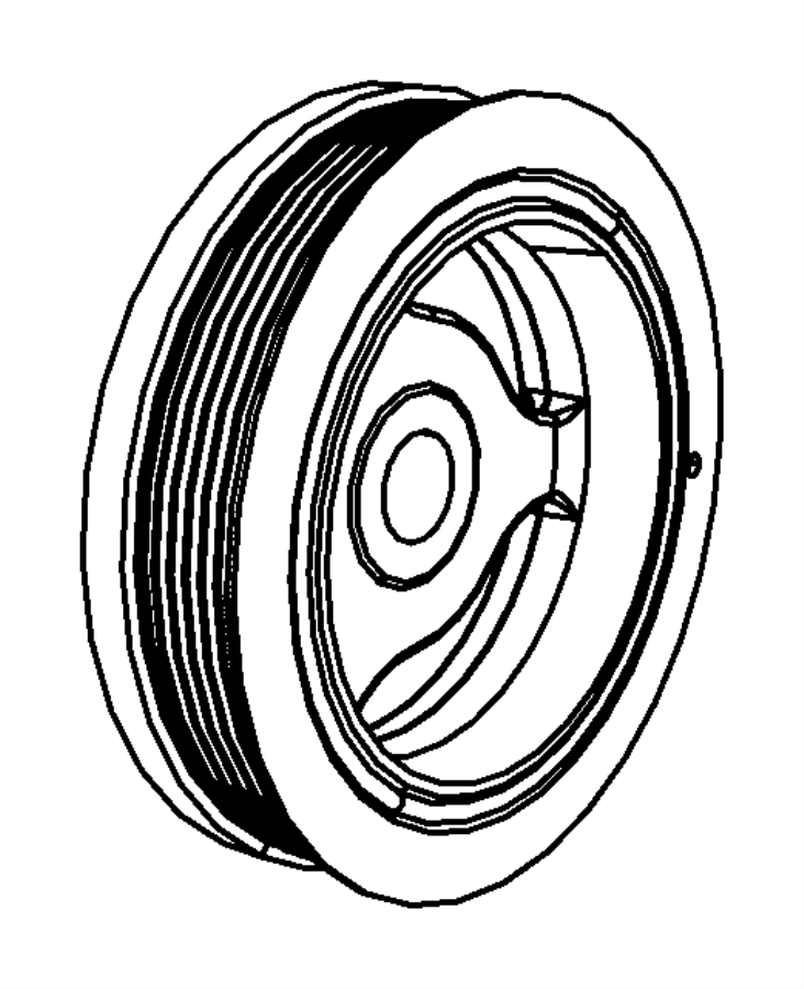 Chrysler Town & Country Engine Crankshaft Pulley. 3.3