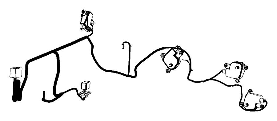 Dodge Ram 2500 Hvac system wiring harness. W/auto temp