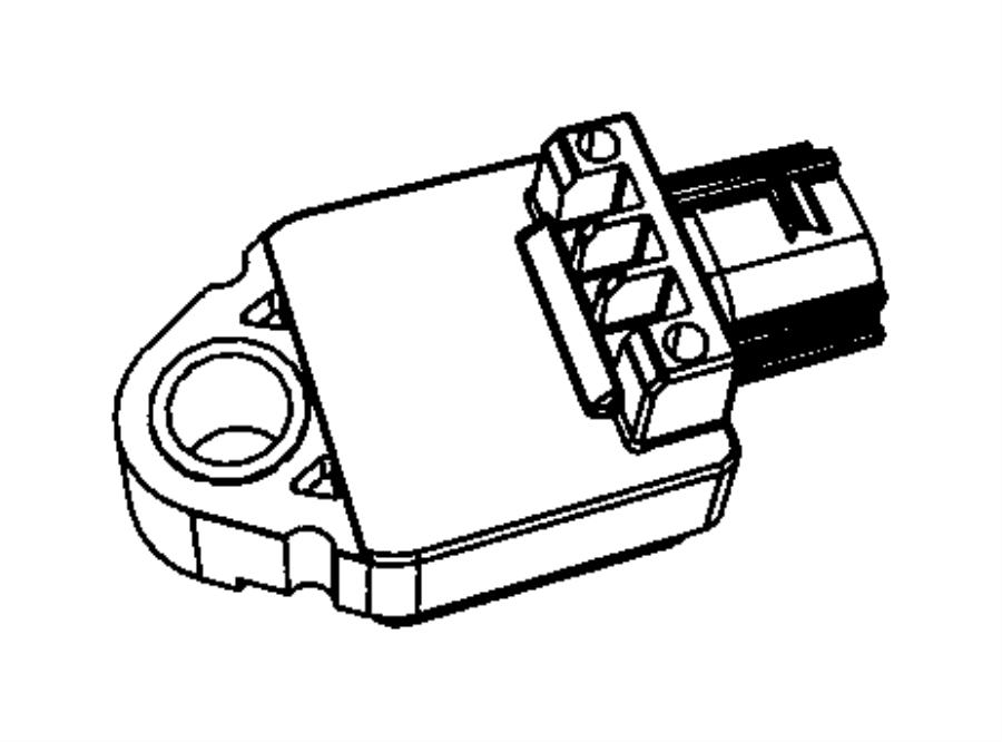 Jeep Wrangler Air Bag Impact Sensor. Left, Right, Pillar
