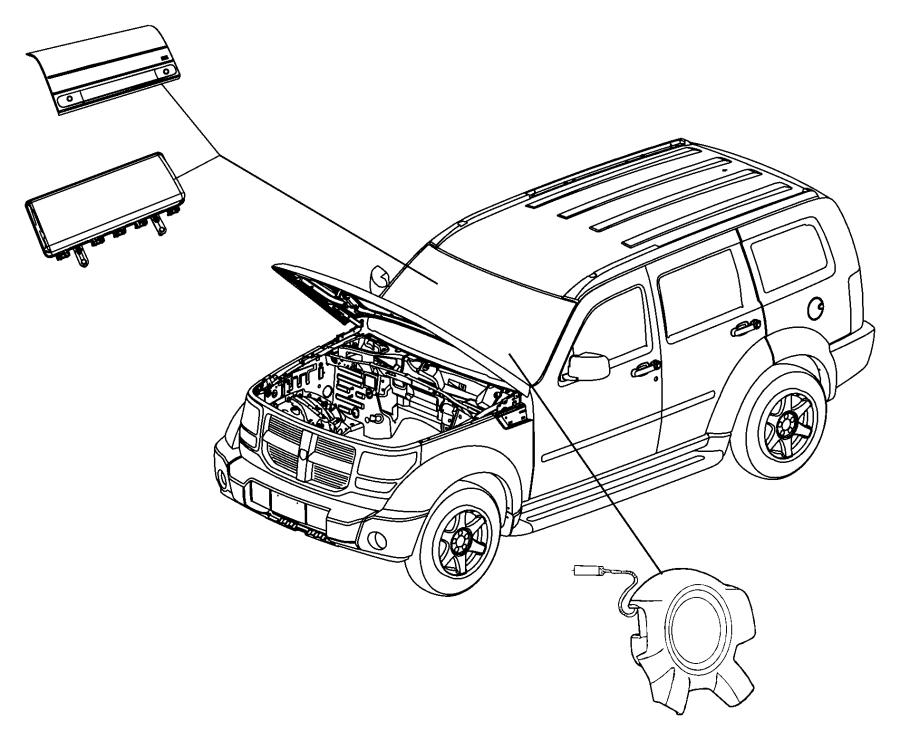Jeep Liberty Steering Wheel Air Bag. Inflator, Module