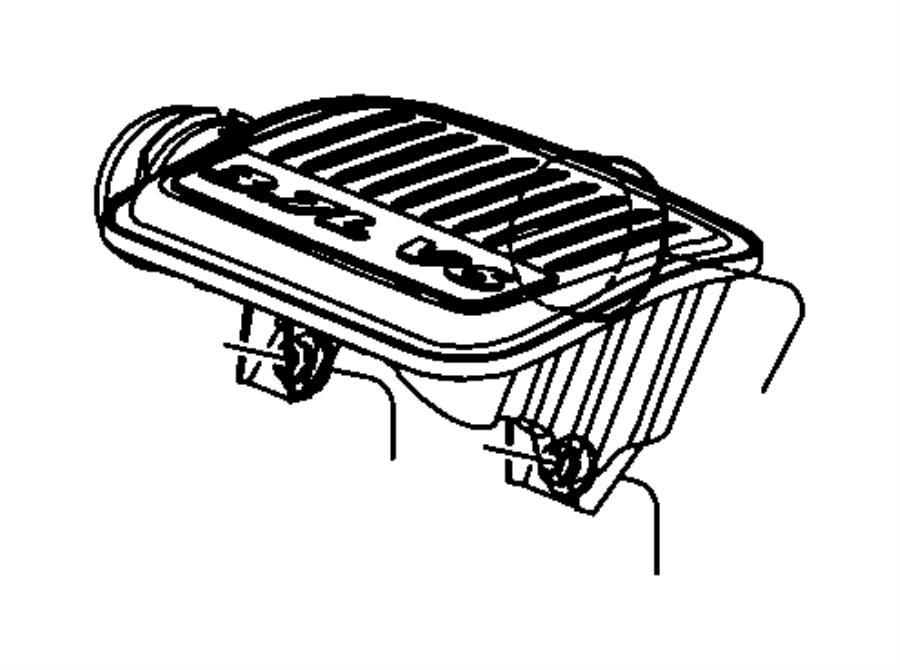 Dodge Ram 1500 Engine Air Intake Resonator. 4.7 LITER