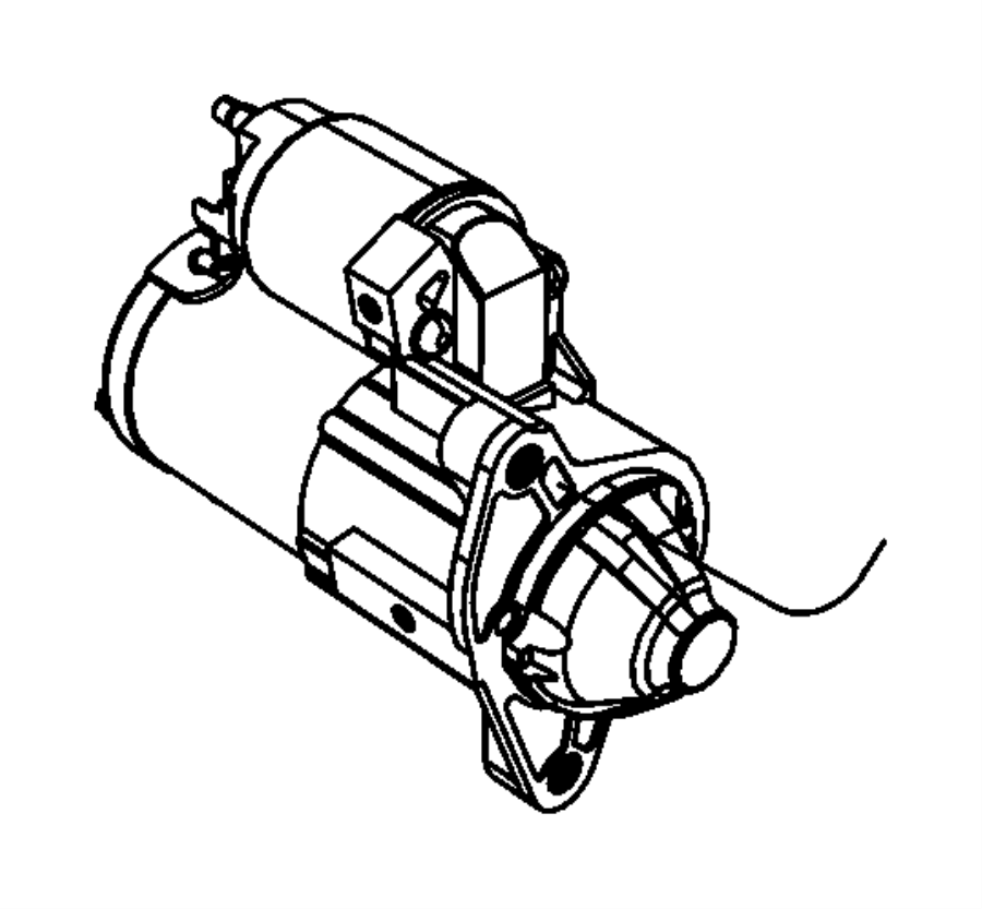 Dodge Ram 3500 Starter Motor. Liter, Remanufactured