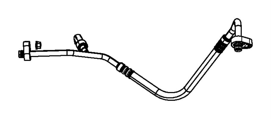 Dodge Ram 1500 A/c refrigerant discharge hose. Air