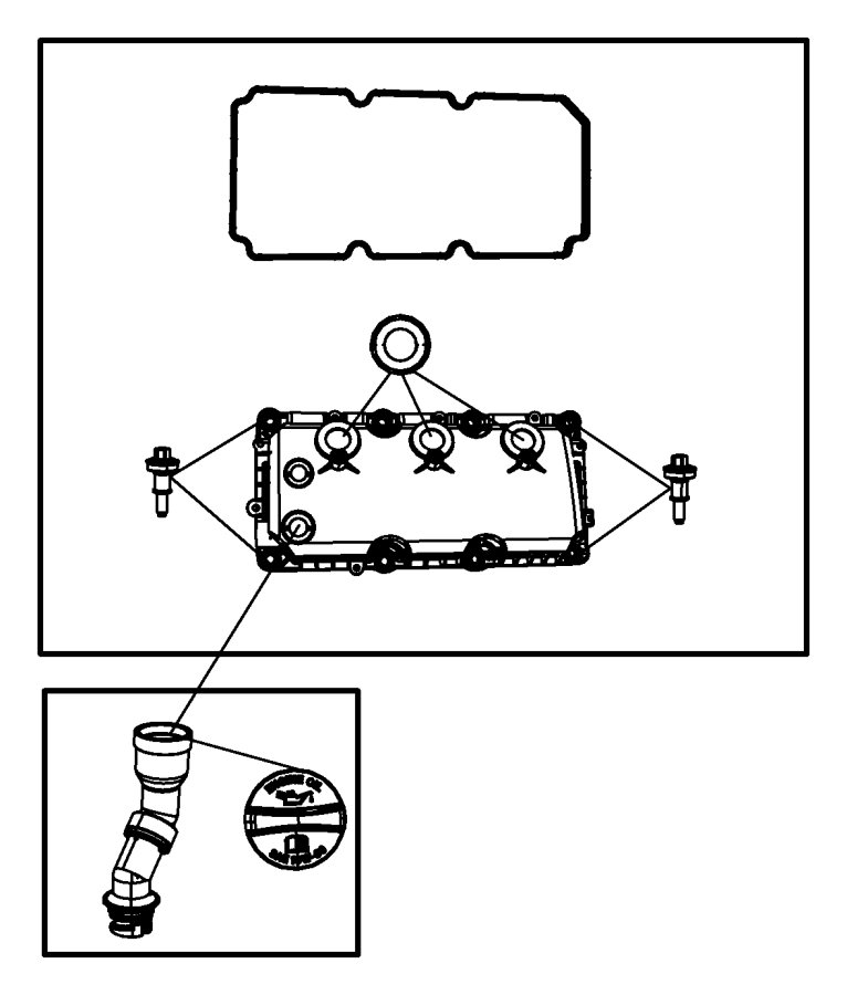 Dodge NITRO Engine Oil Filler Tube. 4.0 LITER. TRANSAXLE