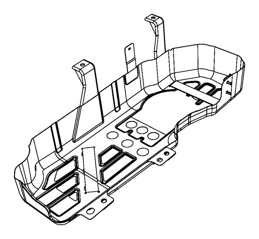 Dodge NITRO Shield. Heat. Fuel. Tank. Skid Plate. Floor