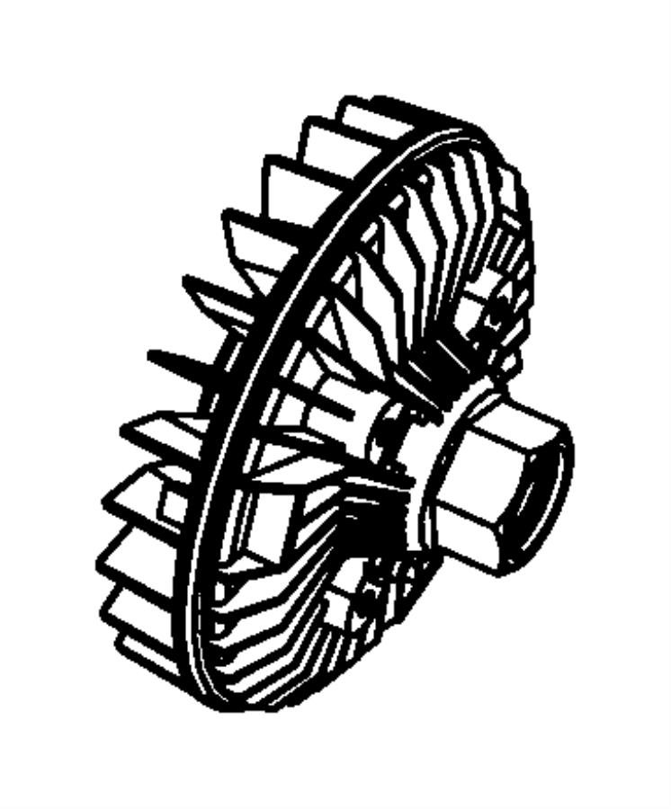 Dodge NITRO Engine Cooling Fan Clutch. MECHANICAL, LITER