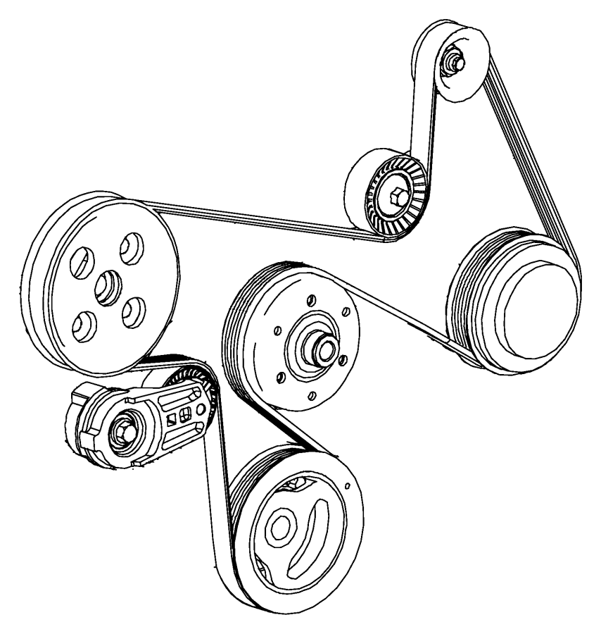Jeep Wrangler Accessory Drive Belt Tensioner Assembly