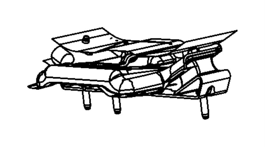 Jeep Wrangler Manual Transmission Mount (Rear