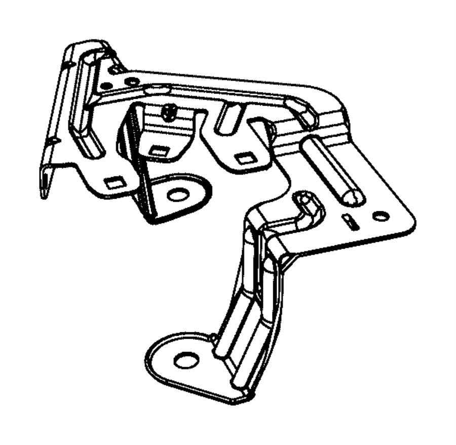 Dodge Caliber Fuse Box Bracket. UNDER HOOD. Telematics